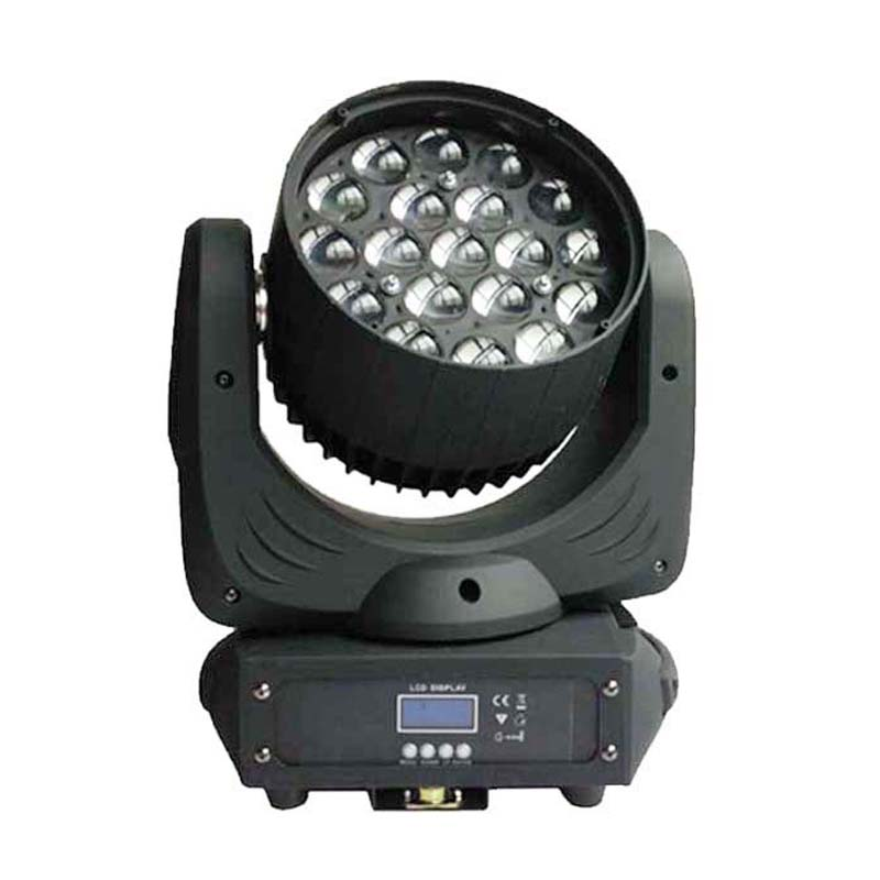 19*12w Quad LED RGBW 4in1 Zoom Moving Head Wash Light