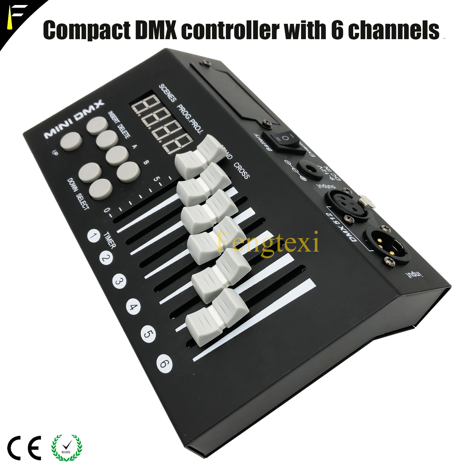6 DMX512 Channels Program Controller