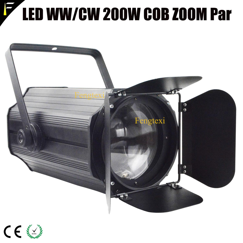 3000K/5600K COB 200w LED Spot Zoom Par Can