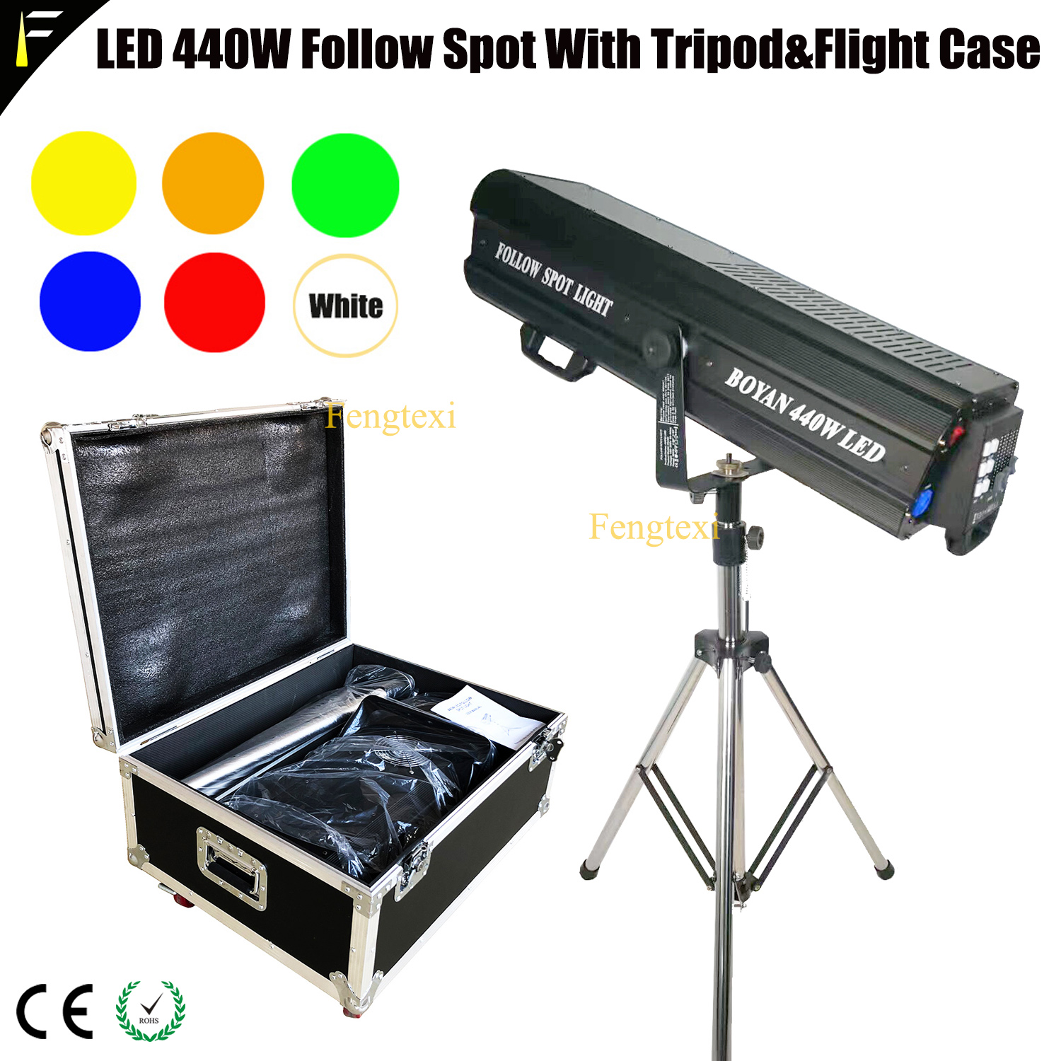 DMX512 440W LED Follow Spot Focus Light Followspot